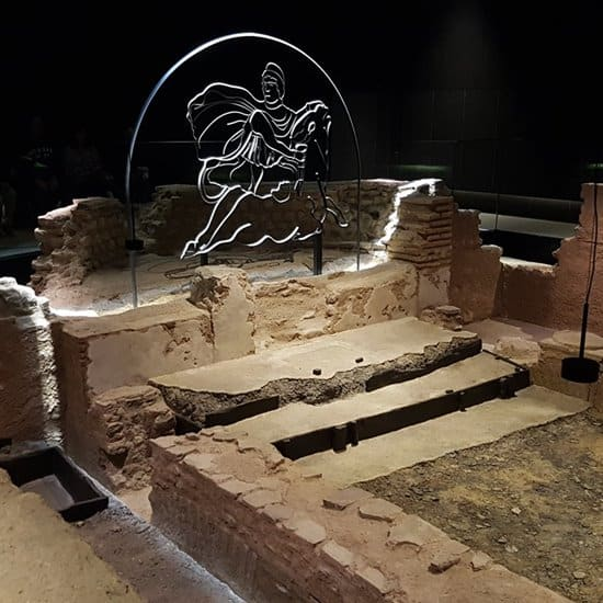 The Roman mithraeum in London.