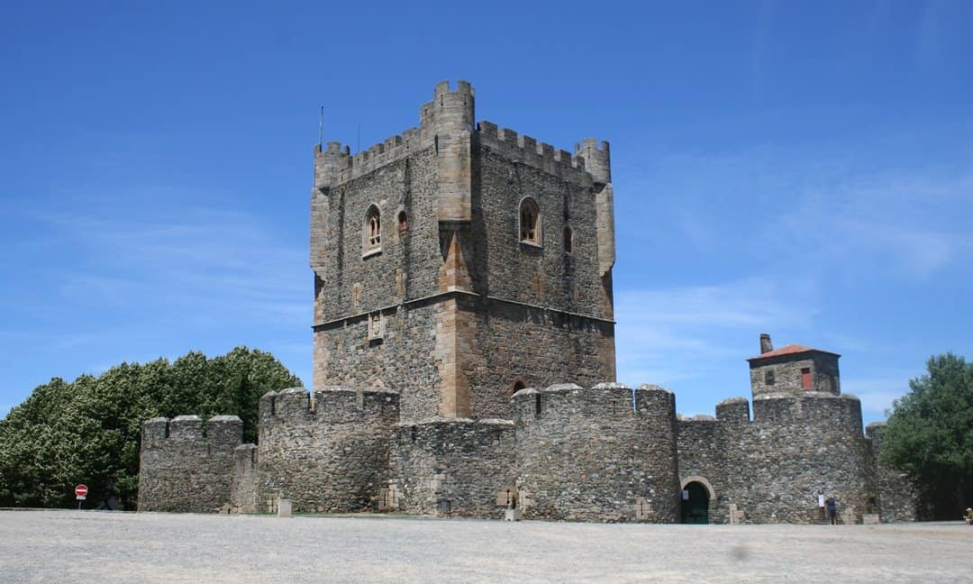 The Moorish castle of Bragança, with typical Gothic elements.