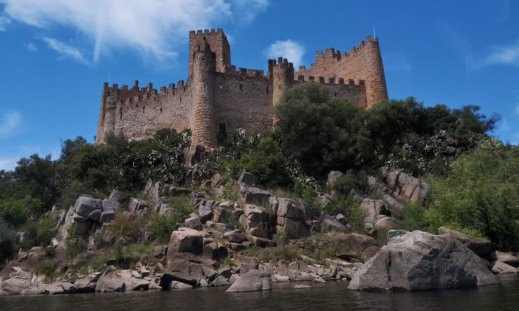 Castle of Almourol on the Tagus River in Portugal.