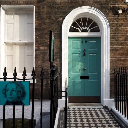 The front door of the Charles Dickens Museum.