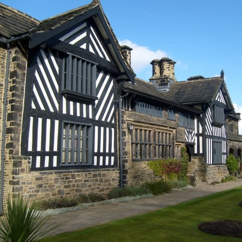 The exterior of Shibden Hall.