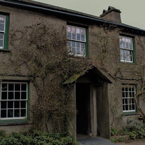 The exterior of Beatrix Potter's Hill Top in Near Sawrey.