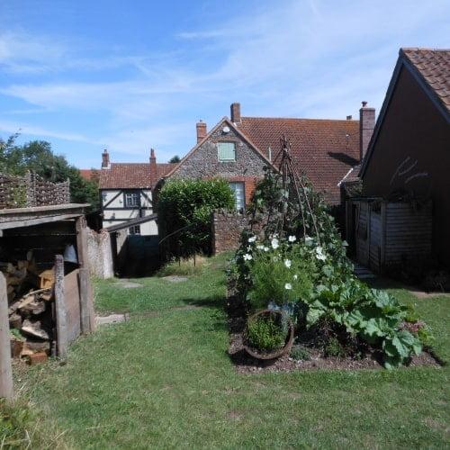The back garden of Coleridge's Cottage in Nether Stowey in Devon.
