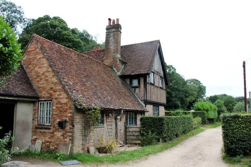 A timber cottage in the lane near Hardys birthplace