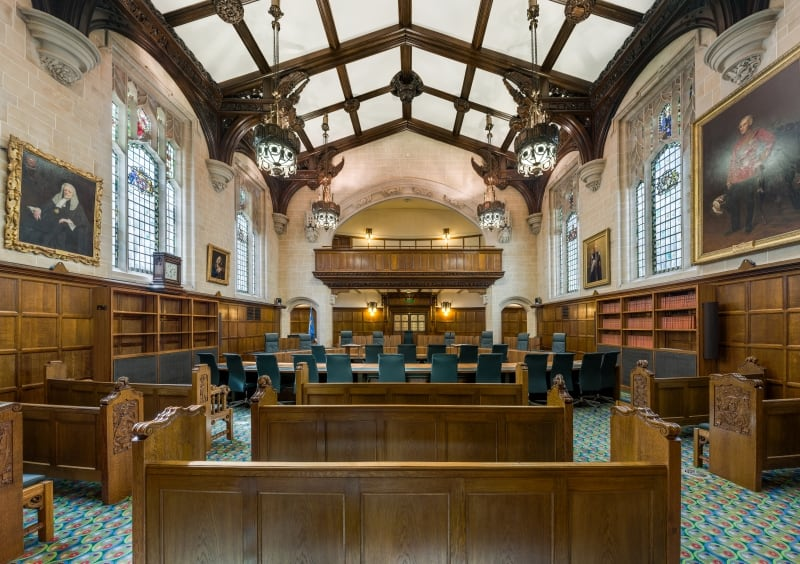 Inside Court 1 of the Supreme Court in London.