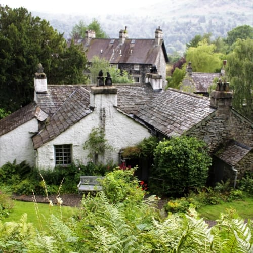 The exterior of Willaim Wordsworth's cottage in the Lake District.