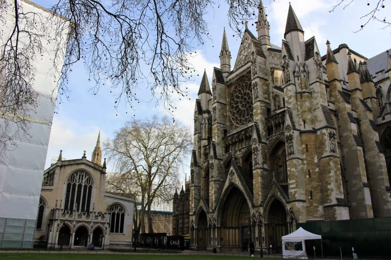 St. Margarets church and Westminster Abbey.