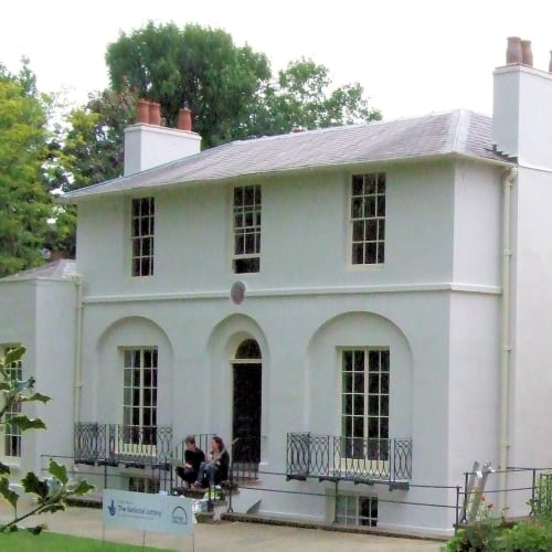 The exterior of Keats House and Museum.