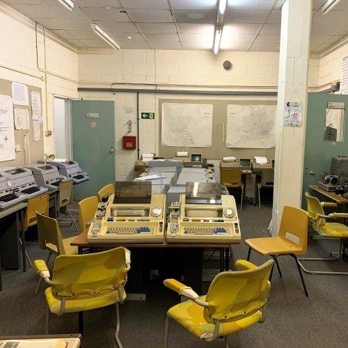 Inside an Operations Room at Kelvedon Hatch Secret Nuclear Bunker.
