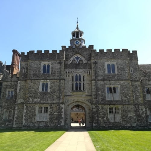 The exterior of Knole House.