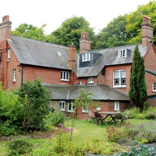 The exterior of Max Gate where Thomas hardy lived.