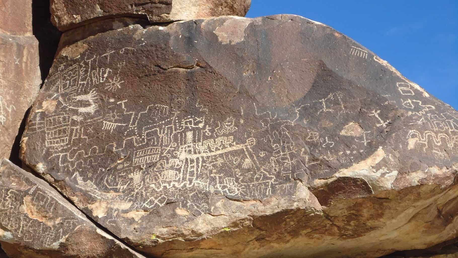 Grapevine Canyon petroglyphs, Nevada.