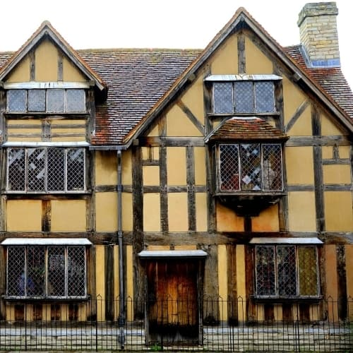 The medieval outside of Shakespeare's Birthplace.