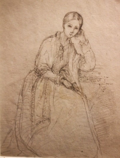 A sketch of Florence Nightingale.