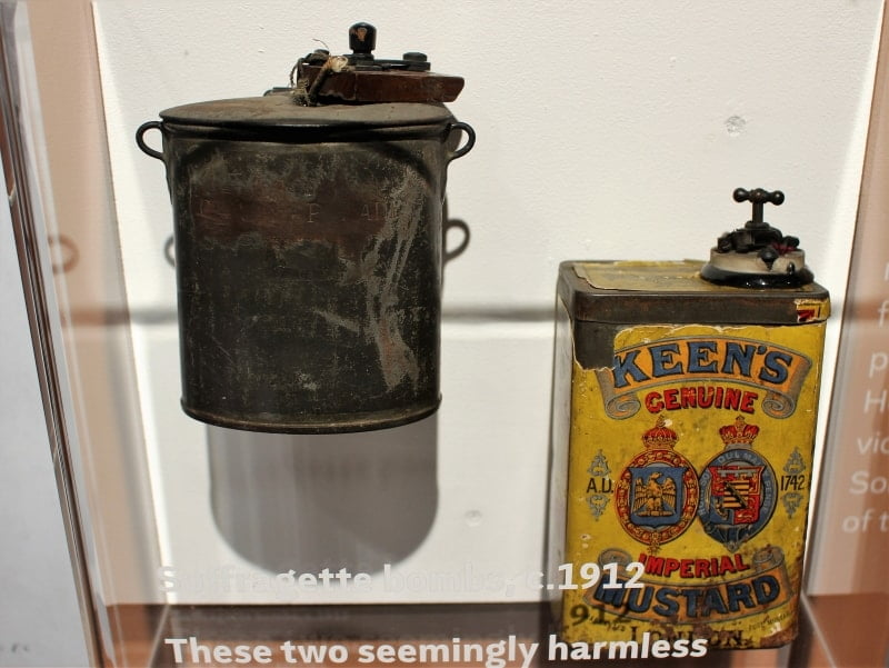 Two bombs disguised as food cans.
