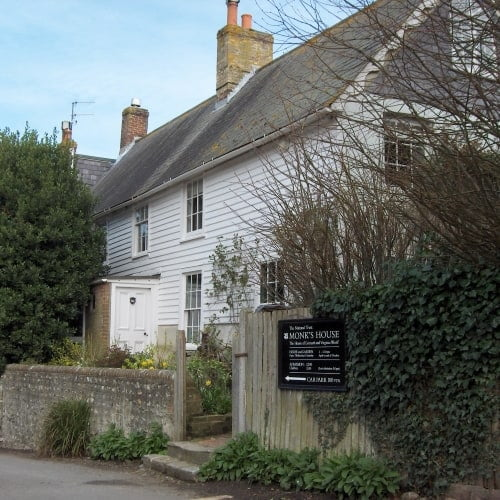 The exterior of Monks House where Virginia Woolf lived.