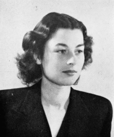 A black and white photo of Violette Szabo.