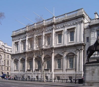 The outside of the Banqueting Hall in London.