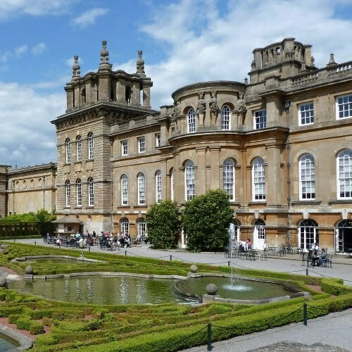 The exterior of Blenheim Palace in Oxford.