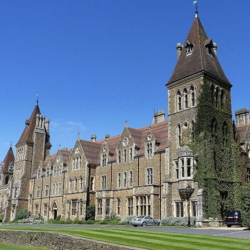 The exterior of Charterhouse School.