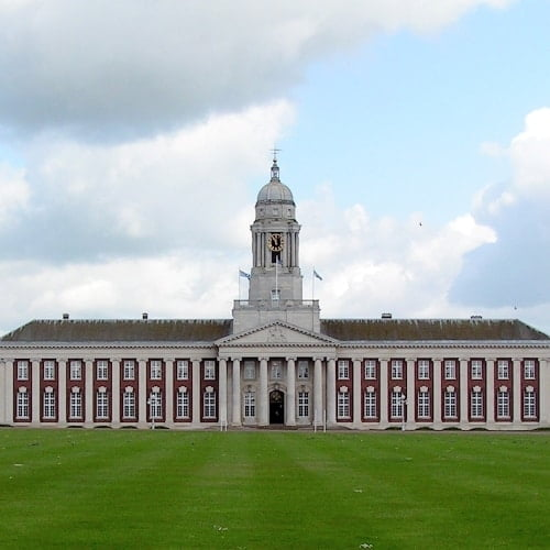 The exterior of the College Hall at RAF Cranwell.
