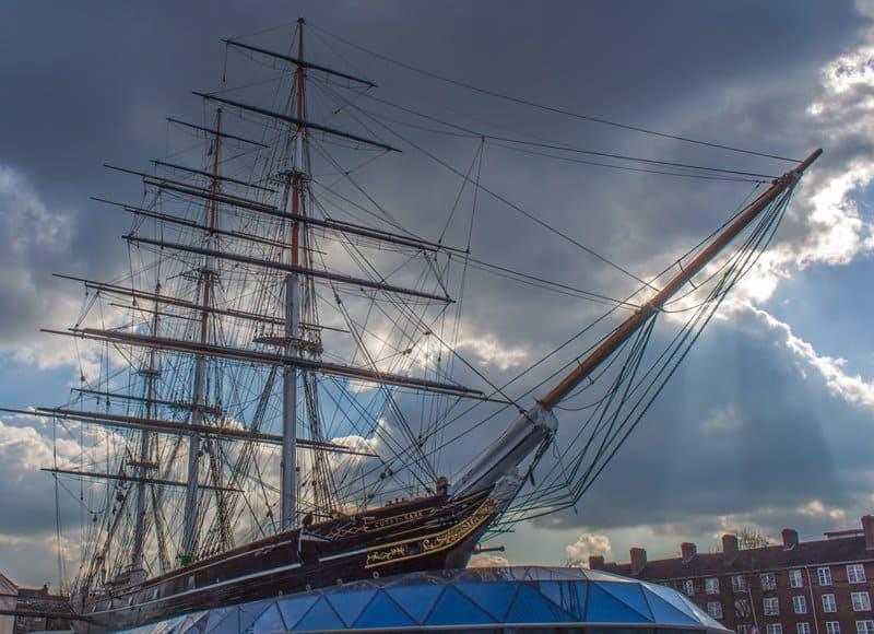 The original Cutty Sark clipper ship, London.