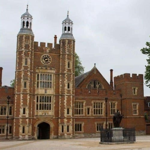 The school yard at Eton School.