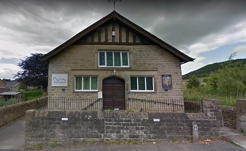 The exterior of Eyam Plague Museum.