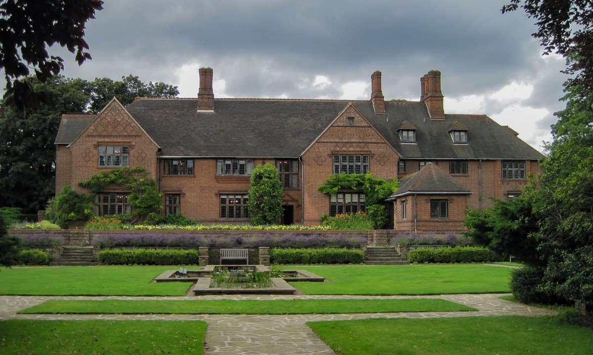 The front of Goddards Manor from the garden.