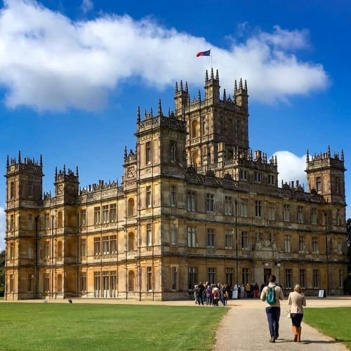 The exterior of Highclere Castle.