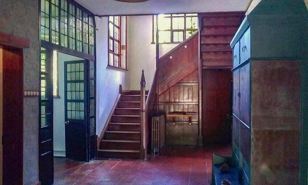 The hallway and entrance to Philip Webb's Red House in London.
