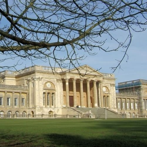 The exterior of Stowe School.