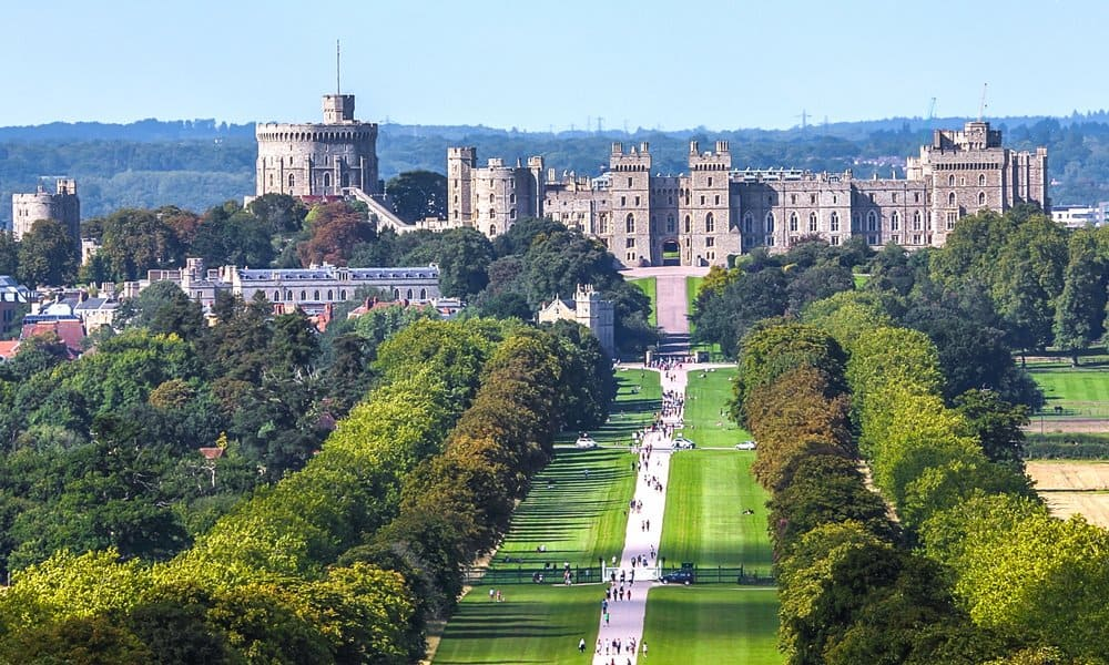 Windsor castle view.