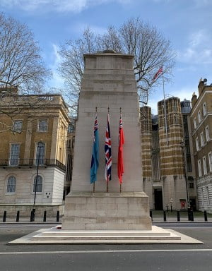 The cenotaph memorial in Whitehall.