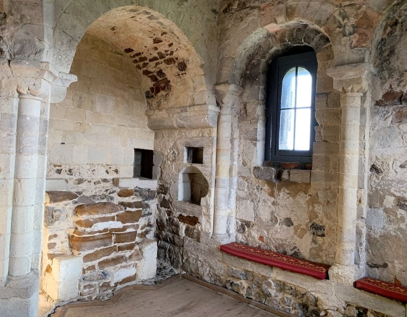 The chapel inside Orford Castle.