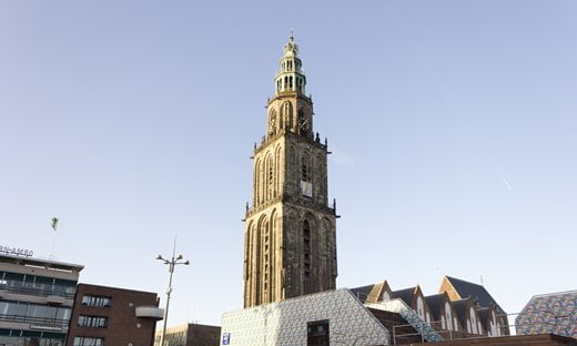 The 15th century Martini Tower in Groningen, Northern Netherlands.