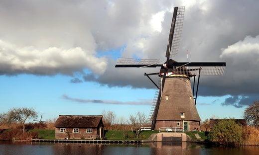 The UNESCO listed windmills of Kinderdijk, Netherlands.