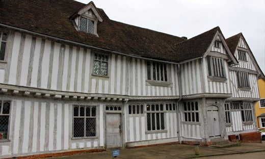 The Medieval Guildhall in Lavenham, Suffolk.