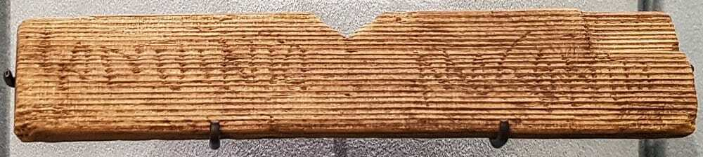 Fragment of a writing tablet found at the London mithraeum.