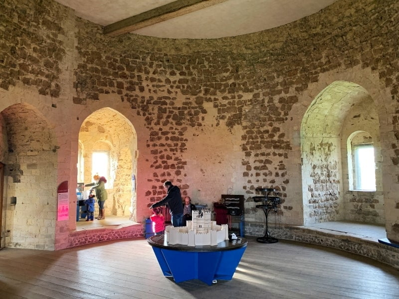 The Lower Hall in the castle with the model in the centre of the room.