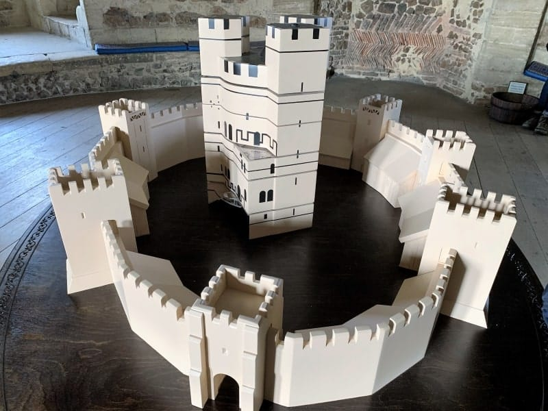 A model of how the castle would have looked when it was built.
