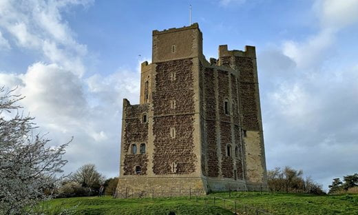 Orford Castle keep in Suffolk, England.