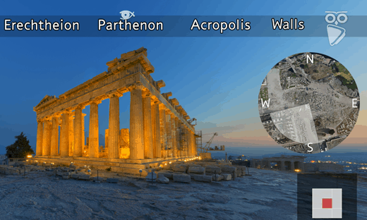 The Parthenon just after sunset.
