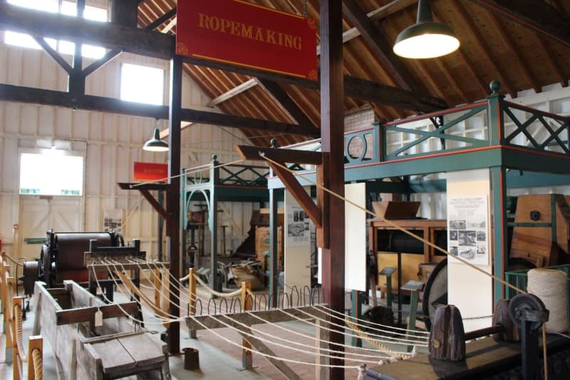 A display of rope making in the Museum of East Anglian life.