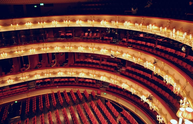 The main auditorium in the Covent Garden Opera House.