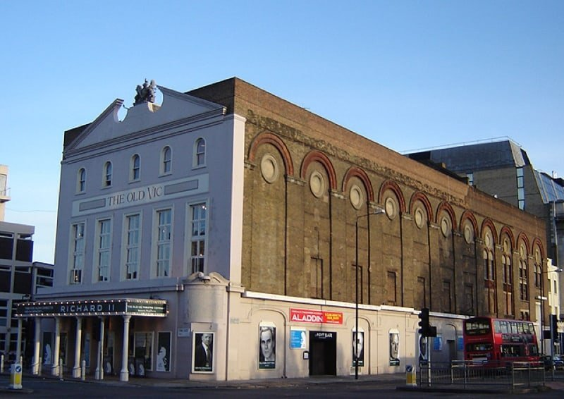 The exterior of the Old Vic Theatre in London.