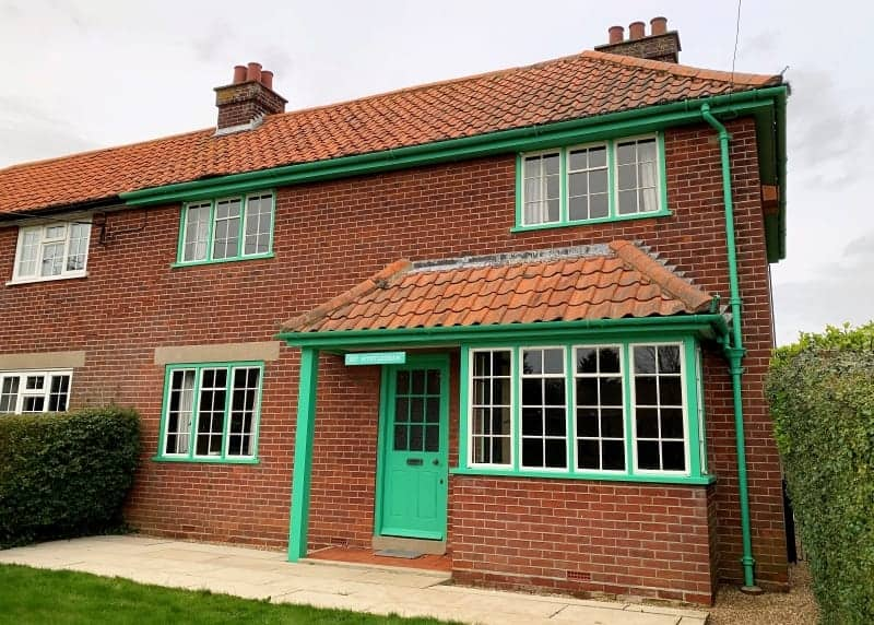 The exterior of the Vintage House in Aldeburgh.
