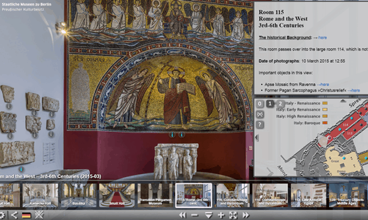 A mosaic from Ravenna in the Bode Museum's virtual tour.