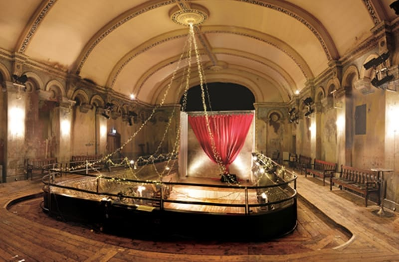 The interior of Wiltons Music hall.