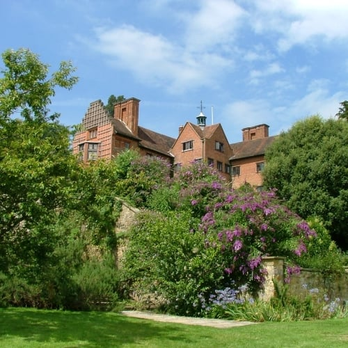 The exterior of Chartwell House in Kent, showing the garden.